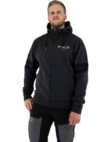 FXR Ride Zip-Up Hoodie Sweatshirt Heather Charcoal/Black