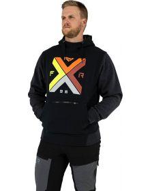 FXR Authentic Pullover Hoodie Sweatshirt Black/Inferno