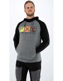 FXR Trainer Lite Tech Pullover Hoodie Sweatshirt Heather Grey/Black