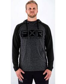 FXR Trainer Lite Tech Pullover Hoodie Sweatshirt Heather Charcoal/Black