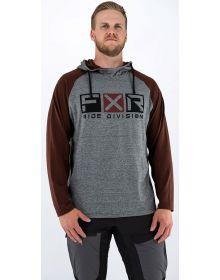 FXR Trainer Lite Tech Pullover Hoodie Sweatshirt Heather Grey/Rust
