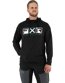 FXR Trainer Lite Tech Pullover Hoodie Sweatshirt Black/Sky Blue