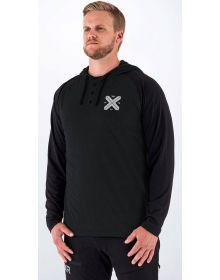 FXR Authentic Lite Tech Pullover Hoodie Sweatshirt Black/grey