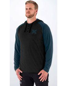 FXR Authentic Lite Tech Pullover Hoodie Sweatshirt Black/Heather Steel