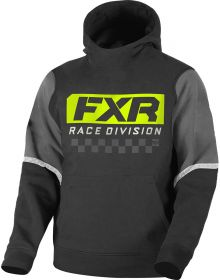 FXR Race Division Tech Pullover Hoodie Youth Sweatshirt Black/Hi Vis