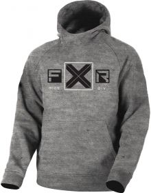 FXR Maverick Tech Pullover Hoodie Youth Sweatshirt Heather Grey/Black