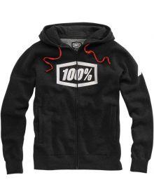 100% Syndicate Zip Hoody Sweatshirt Black/Heather