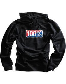 100% Classic Hoody Sweatshirt Black