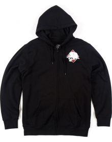 Metal Mulisha Diamond Zip up Sweatshirt Black