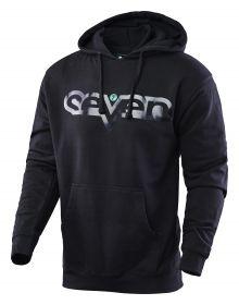 Seven Brand Pullover Hoodie Sweatshirt Black