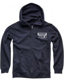 Thor Star Racing Chevron Zip-up Sweatshirt Navy