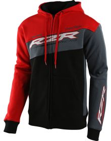 Troy Lee Designs Zip Up Sweatshirt Polaris RZR Black/Red