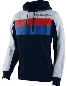 Troy Lee Designs Block Signature Pullover Sweatshirt Navy/White