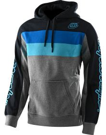 Troy Lee Designs Block Signature Pullover Sweatshirt Gray Heather/Blue