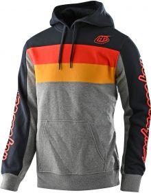 Troy Lee Designs Block Signature Pullover Sweatshirt Gray Heather/Orange