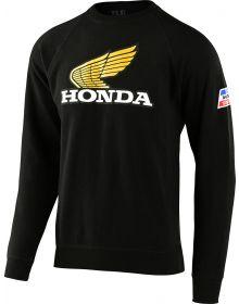 Troy Lee Designs Honda Retro Wing Crew Sweatshirt Black