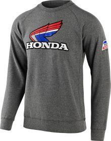 Troy Lee Designs Honda Retro Victory Wing Crew Sweatshirt Gunmetal Heather
