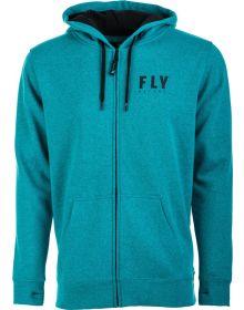 Fly Racing Logo Zip-Up Sweatshirt Blue