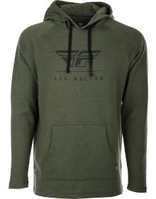 Fly Racing Crest Hoodie Sweatshirt Military Green