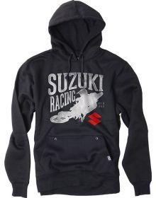 Factory Effex Suzuki Rider Youth Pullover Hoodie Sweatshirt Navy