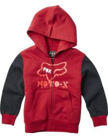 Fox Racing Supercharged Sherpa Youth Zip-Up Sweatshirt Cardinal