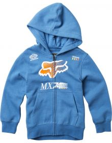Fox Racing Backdrafter Youth Zip-Up Sweatshirt Dusty Blue