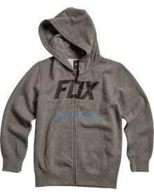 Fox Racing Overdrive Youth Zip Sweatshirt Heather Graphite