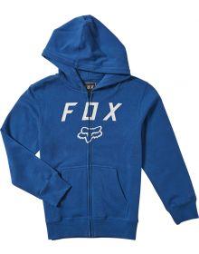 Fox Racing Legacy Moth Youth Zip Sweatshirt Royal Blue