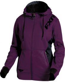 FXR Vivid Sherpa Tech Womens Pullover Sweatshirt Plum/Black