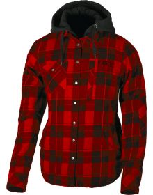 FXR Timber Plaid Insulated Womens Jacket Maroon/Black