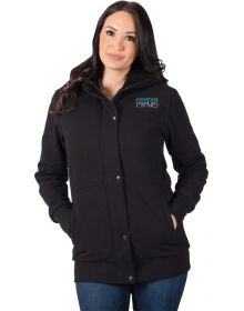 FXR Aspen Sherpa Long Womens Sweatshirt Black/Teal
