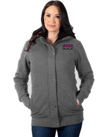 FXR Aspen Sherpa Long Womens Sweatshirt Charcoal Heather/Fuchsia