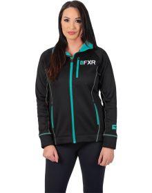 FXR Elevation Tech Zip-Up Womens Sweatshirt Black/Mint