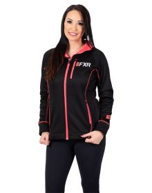 FXR Elevation Tech Zip-Up Womens Sweatshirt Black/Coral