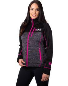 FXR Elevation Tech Zip-Up Womens Sweatshirt Charcoal Heather/Fuchsia