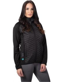 FXR Phoenix Quilted Womens Sweatshirt Black/Mint
