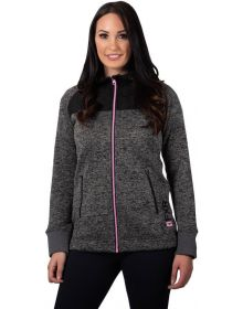 FXR Fusion Pullover Womens Sweatshirt Charcoal Heather/Electric Pink