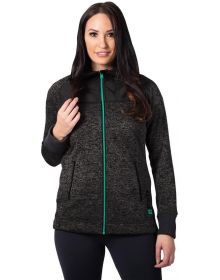 FXR Fusion Pullover Womens Sweatshirt Black Heather/Mint