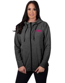 FXR Cozy Fleece Womens Sweatshirt Black Heather/Electric Pink