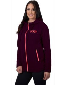 FXR Cozy Fleece Womens Sweatshirt Plum Heather/Coral