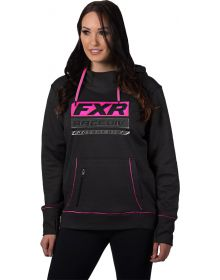 FXR Race Division Tech Pullover Womens Sweatshirt Black/Electric Pink