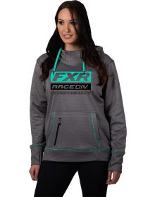 FXR Race Division Tech Pullover Womens Sweatshirt Grey Heather/Mint