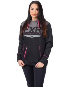 FXR Helium Tech Pullover Womens Sweatshirt Black/Electric Pink