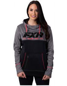 FXR Pursuit Tech Pullover Womens Sweatshirt Grey Heather/Coral
