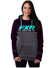 FXR Pursuit Tech Pullover Womens Sweatshirt Plum/Sky Blue