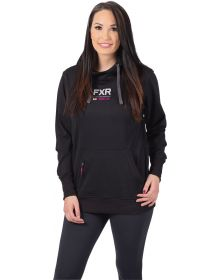 FXR Ride Pullover Womens Sweatshirt Black/Electric Pink