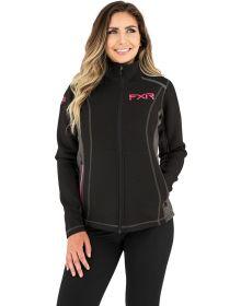 FXR Altitude Zip-Up Tech Womens Sweatshirt Black/Elec. Pink