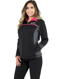FXR Elevation Zip-Up Tech Womens Sweatshirt Black/Elec. Pink