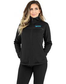 FXR Elevation Zip-Up Tech Womens Sweatshirt Black/Sky Blue