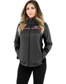 FXR Elevation Zip-Up Tech Womens Sweatshirt Charcoal/Coral